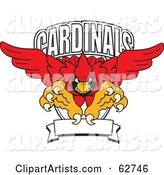 Vector Cardinal Character Clipart by Toons4Biz