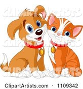 Vector Cat and Dog Clipart by Pushkin
