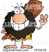 Vector Caveman Clipart by Hit Toon