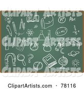 Vector Chalk Board Clipart by Qiun