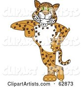 Vector Cheetah Character Clipart by Toons4Biz