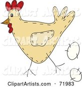 Vector Chicken Clipart by Inkgraphics