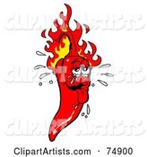 Vector Chili Pepper Clipart by LaffToon