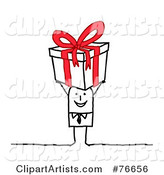 Vector Christmas Present Clipart by NL Shop