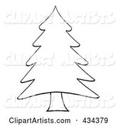 Vector Christmas Tree Clipart by Hit Toon