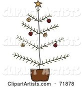Vector Christmas Tree Clipart by Inkgraphics