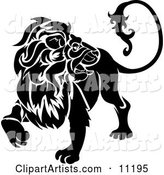 A Lion Looking Back, Leo, Astrological Sign of the Zodiac
