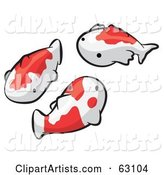 Animal Factor White and Orange Koi Fish