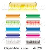 Assorted Web Lozenge Gel Buttons