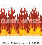 Background of Flames