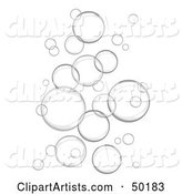 Background of Floating Gray Bubbles