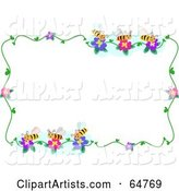 Bee and Flower Border Frame