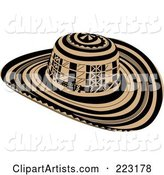 Black and Beige Sombrero Vueltiao Hat