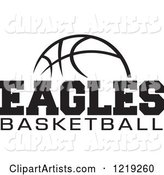 Black and White Ball with EAGLES BASKETBALL Text