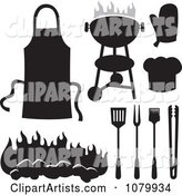 Black and White BBQ Items