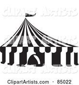 Black and White Big Top Circus Tent
