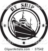 Black and White by Ship Delivery Seal