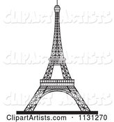 Black and White Eiffel Tower 1