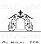 Black and White Ornate Wedding Carriage Frame