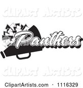 Black and White Panthers Cheerleader Design