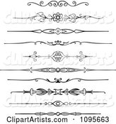Black and White Rule Border Design Elements 2