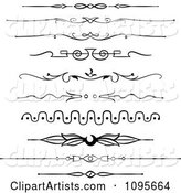 Black and White Rule Border Design Elements 3