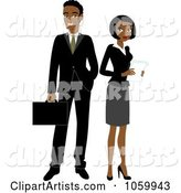 Black Business Man and Woman