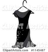 Black Dress with Sparkles on a Hanger