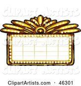 Blank Illuminated Gold Casino or Theater Marquee Sign