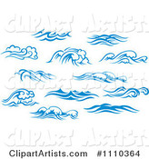 Blue and White Ocean Surf Waves 5