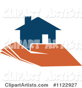 Blue House in an Orange Hand 1