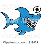 Blue Shark Playing Soccer