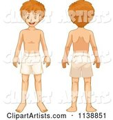 Boy Shown Front and Back