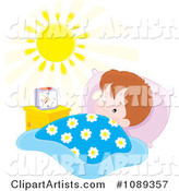 Boy Waking in the Morning