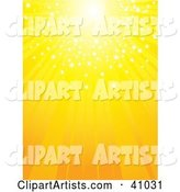 Bright Yellow Sun with Sparkling Light, Shining down