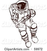 Brown and White Astronaut Exploring in a Space Suit