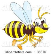 Brown and Yellow Hornet