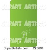 Business Card Design of a Dandelion Seedhead on Green