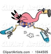 Cartoon Flamingo Running