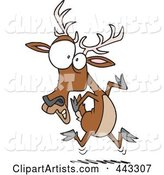 Cartoon Scared Deer