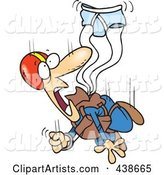 Cartoon Skydiver with an Underwear Parachute