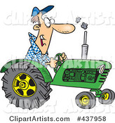 Cartoon Tractor Driver
