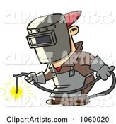 Cartoon Welder at Work