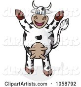 Cheering Cow Holding Its Hooves up