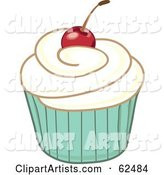 Cherry Topped Cupcake - Version 4