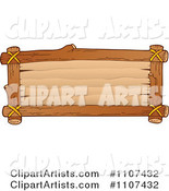 Clipart Rectangular Wooden Sign- Royalty Free Illustration