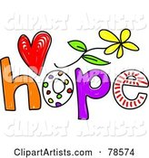 Colorful Hope Word