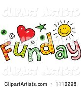 Colorful Sketched Funday Text