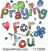 Colorful Sketched Praying for You Text 2