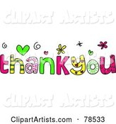 Colorful Thank You Words